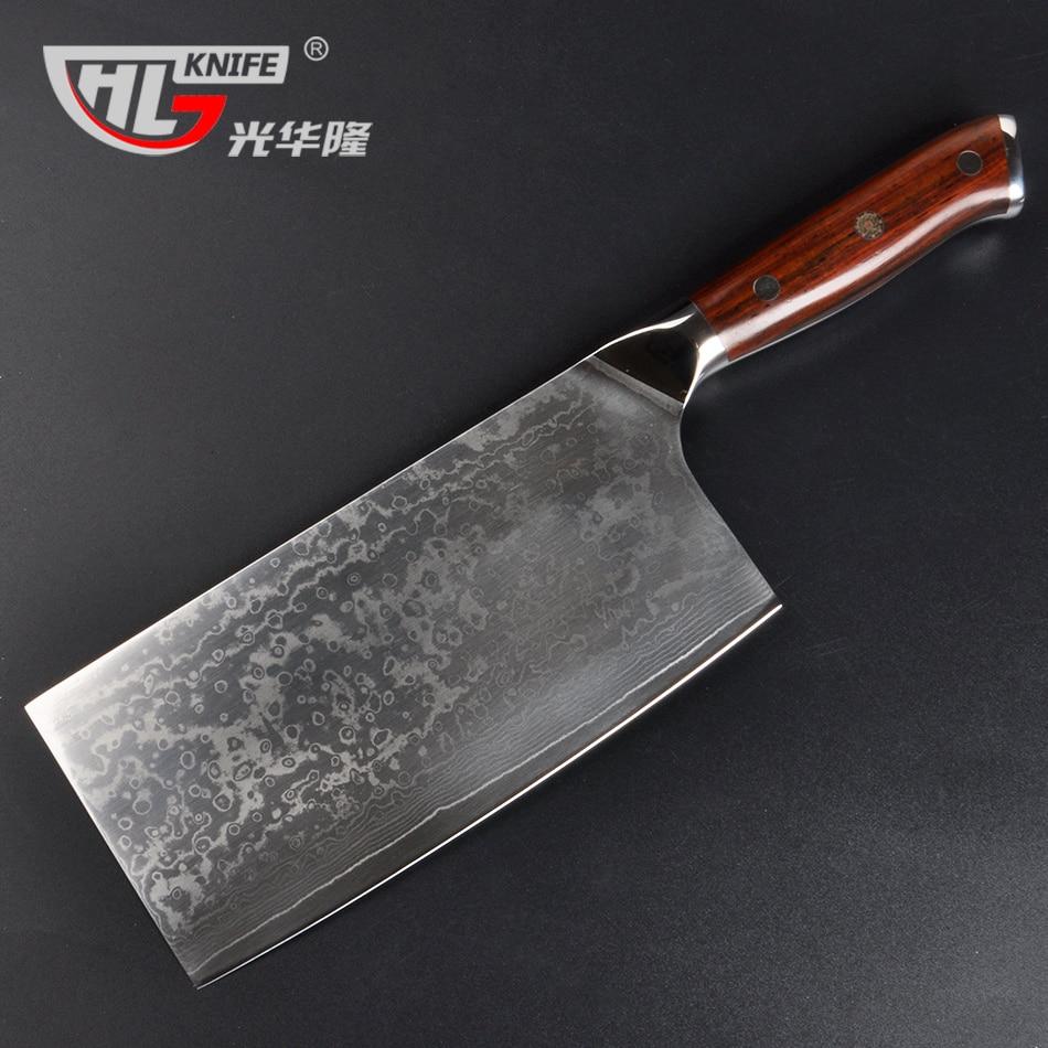 Japonês VG10 Damasco Cutelo Cortador De 7.2 Polegada cuchillos cocina de Cortar Faca Chef faca de cozinha Cortando cutelo Chinês