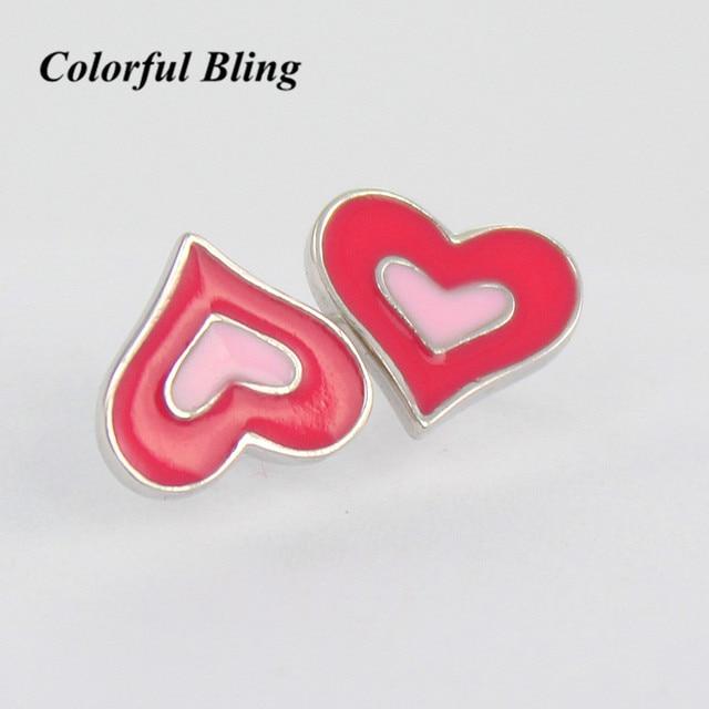 Double Heart Light Pink Hot Stud Earrings For Little S Fashion Woman Earring