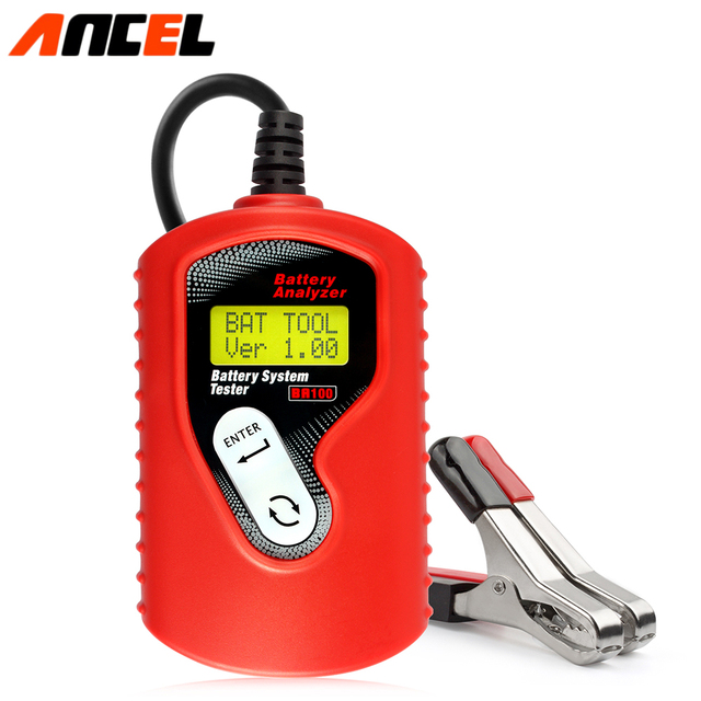 New Arrive ANCEL BA100 Vehicle Battery Analyzer Professional Car Battery Tester Auto Battery System Tester Free shipping