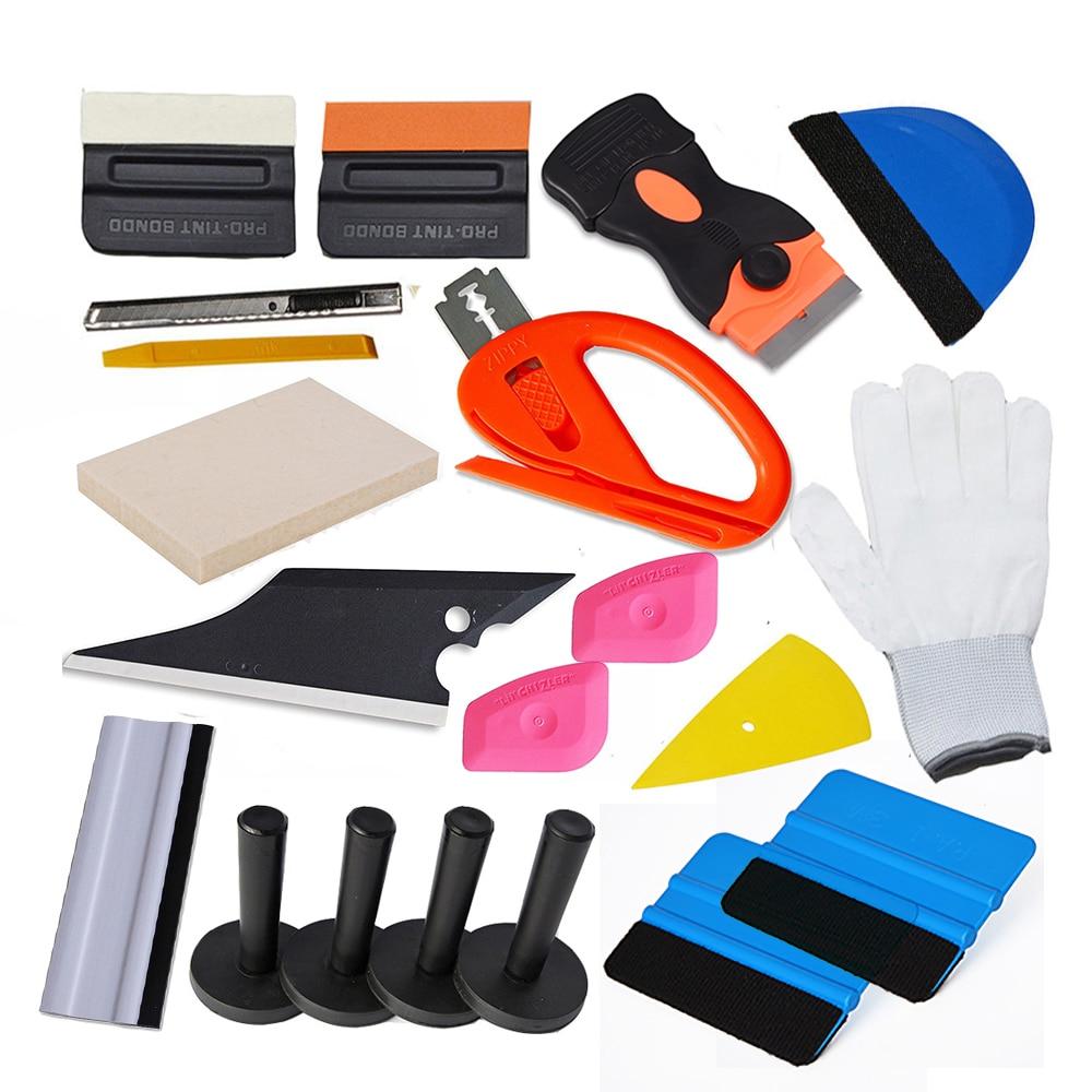 EHDIS vinyle Film voiture Wrap outil Kit couteau de coupe avec fibre de carbone laine raclette fenêtre teinte outils support magnétique rasoir grattoir