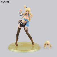 Anime Fairy Tail Lucy Figure 21cm Sexy Girl Lucy Heartfilia Cosplay Scale PVC Action Figures Collectible