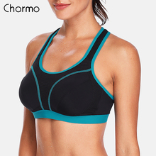 Charmo Women Sports Bra High Impact Support Backless Yoga Running Workout Underwear Professional Fitness Top