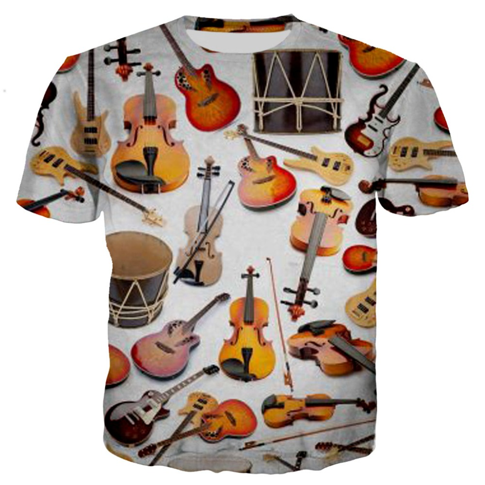 Guitar Art Musical Instrument 3D Full Printing Fashion Tee 3D Print Hip Hop Style Hoodie/Sweatshirt/Zipper Casual Style-3