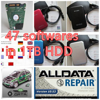RCOBD auto repair software all data v10.53 alldata and mitchell software 2015 full set 47in 1tb new usb hard disk remote install