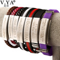 9 Color Rubber ID Bracelet Customized Logo Engraving Stainless Steel Bracelets for Lover's Men Women Mother Father Gift 03