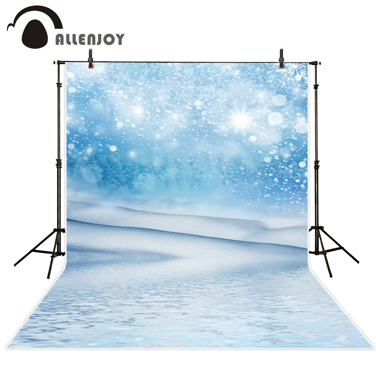 Allenjoy photography background snow winter wihte shiny bokeh photo backdrop vinyl photo backdrop photography backdrop vinyl allenjoy backdrop background wonderland