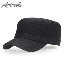 b3f88179342   AETRENDS  2017 New Retro Men s Visor Hat Woolen Warm Flat Cap Military  Hats Z 3028-in Military Hats from Apparel Accessories on Aliexpress.com