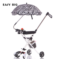 Tricycle Baby Carriage Hot Mom Stroller Fold Three Wheels Stroller Shock Absorber Summer Trolley Stroller Baby Stroller O2K0004