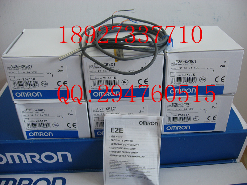 [ZOB] New original OMRON Omron proximity switch E2E-CR8C1 2M E2E-C04S12-WC-C1 --2PCS/LOT [zob] new original omron omron proximity switch e2e x7d1 n 2m factory outlets 2pcs lot