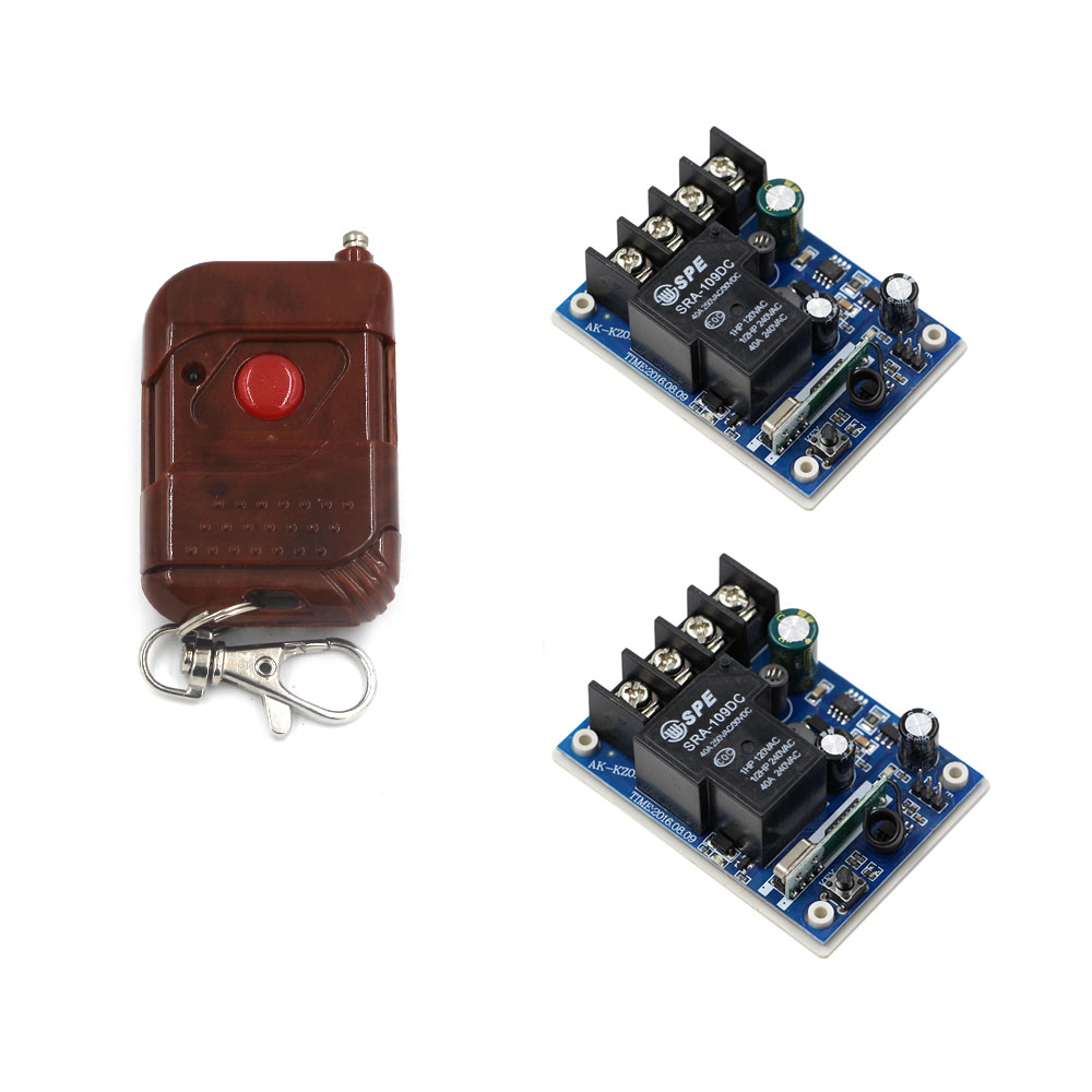 New Arrivals DC 12V 24V 36V 48V 30 A 1 Channel RF Wireless Remote Control 2pcs Receiver & 1 pcs One Key Transmitter dc 12v 1 channel rf wireless remote control 3 pcs receiver