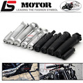 Black Chrome CNC Custom Rough Crafts Handlebar Grips Foot Pegs Shifter Fits For 883R 883L 48 Sportster 1984-2014 Cable Models