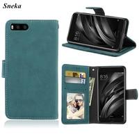 SFor Xiaomi Mi6 Phone Case Luxury Leather Multifunction 3 Cards Wallet Flip Stent Phone Case SFor