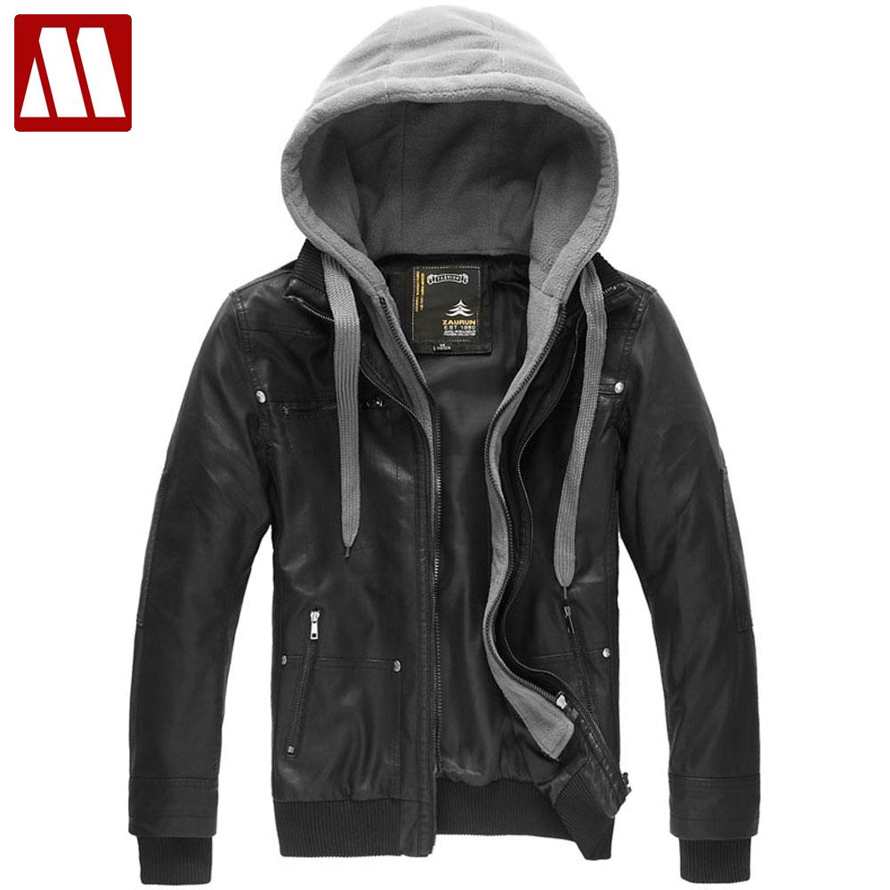 Mens jackets sale - Holiday Sale Leisure Hooded Collar Men S Casual Jackets Faux Leather Coat Pu Leather Jacket For Men Free Shipping S M L Xl Xxl