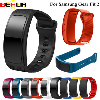 S/L Silicone Replacement Wristband For Samsung Gear Fit2 Pro band Watchband For Samsung Fit 2 SM-R360 Watch Strap Band Drop Ship compatible for samsung gear fit 2 watch strap silicone wristband l s replacement for samsung gear fit 2 pro fit 2 sm r360 band
