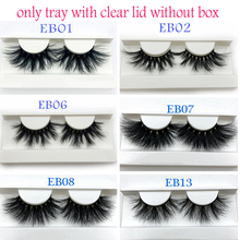 Buzzme Mink Eyelashes Wholesale 20/30/40/50pairs/lot 3D Mink Lashes Only With Tray No Box Makeup Dramatic Long Mink Lashes