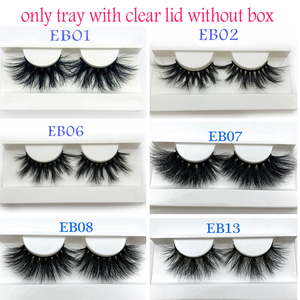Image 1 - Buzzme Mink Eyelashes Wholesale 20/30/40/50pairs/lot 3D Mink Lashes Only With Tray No Box Makeup Dramatic Long Mink Lashes