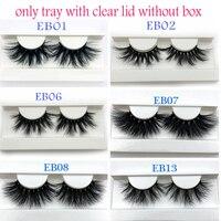 Buzzme Mink Eyelashes Wholesale 20/30/40/50pairs/lot 3D Mink Lashes round case custom packaging Makeup Dramatic Long Mink Lashes