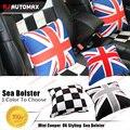 1pc Cotton Car Seat Cushion For Mini Cooper Universal UK Flag Countryman Clubman F55 F56 R50 R52 R53 R55 R56 R57 R58 R59 R60 R61