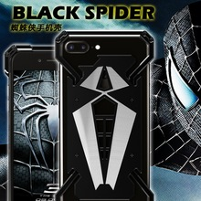Мода Человек-Паук Для iphone 7 Случае Все Металлические Бампер Для Мобильного Телефона iphone 6 S Случай Сплава 6 S 6 7 Плюс 6 Плюс 7 Плюс Крышка Телефона