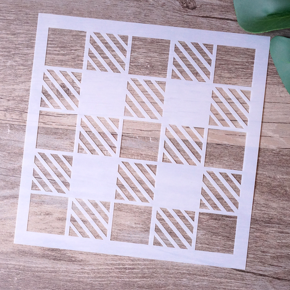 15 Cm DIY Craft Layering Plaid Stencils For Walls Painting Scrapbooking Stamping Stamps Album Decorative Embossing Paper Cards