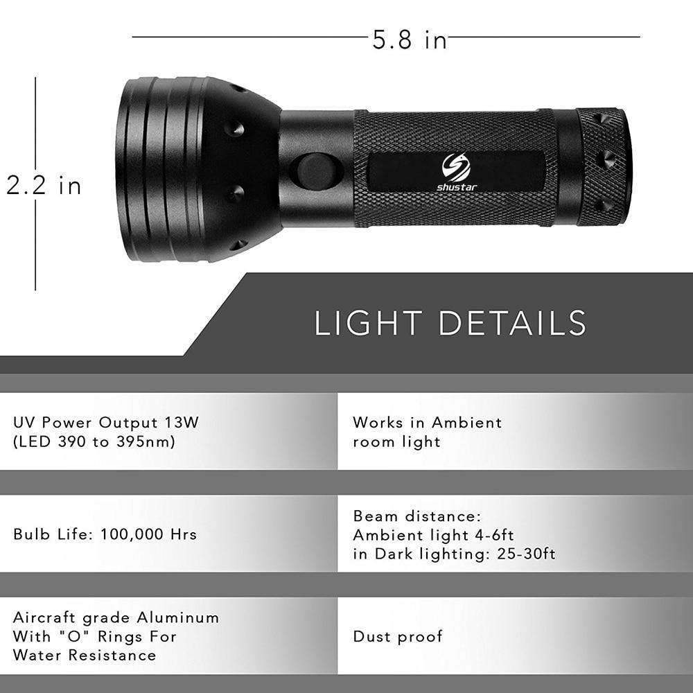 395 Presque comme neuf UV Lampe de poche rechargeable Blacklight ELAW mxlegnt UV torche