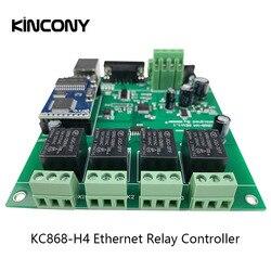 4CH sieć ethernet TCP IP zdalnie sterowany przekaźnik inteligentna automatyka domowa Domotica Hogar Casa moduł kontroler System dom przełącznik