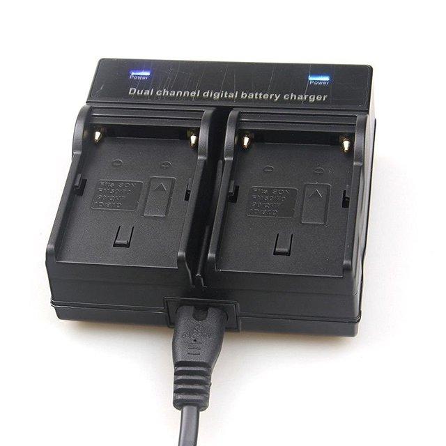 Setto dual channel carregador de bateria para sony np-f970 f750 f960 qm91d fm50 fm500h fm55h bateria