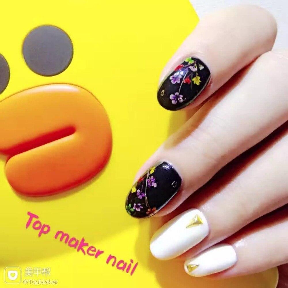new arrival 6 colors real dry flower uv gel . 3D nail art flower uv ...