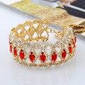 New Fashion Chunky Gem Crystal Rhinestone Luxury Maxi Choker Necklace Bib Fashion Statement Necklaces For Women