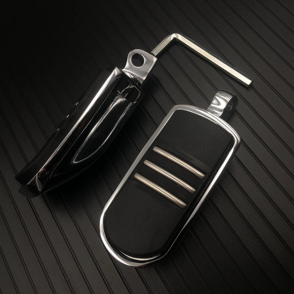 StreamLiner Styled Chrome Footpeg Foot Peg For Harley FLH Touring Electra Street Glide Road King FLST Softails Fatboy