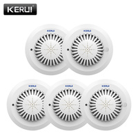 KERUI 5pcs SD03 Voice Prompts High Sensitivity Fire Smoke Alarm Fire Security Smoke Detector Applied To