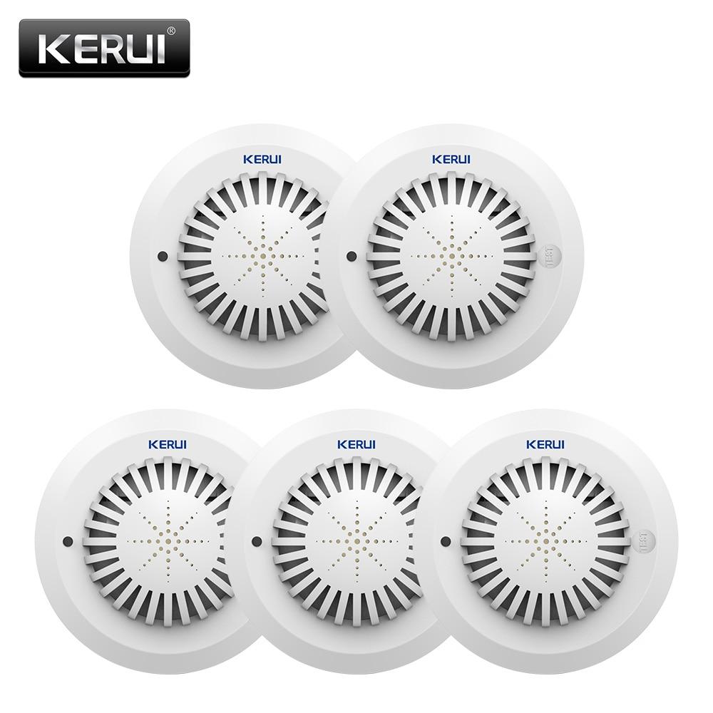 KERUI 5pcs SD03 Voice Prompts High Sensitivity Fire Smoke Alarm Fire Security Smoke Detector Applied To House Hotel Shop