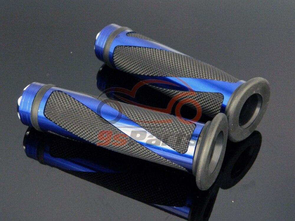 """Синий Мотоцикл Мотокросс Байк алюминий 7/"""" Гель для руля прорезиненные ручки"""