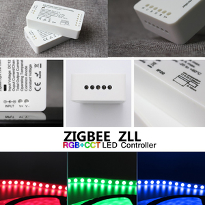 Image 5 - LED בקר RGB + CCT RGBW WWCW LED רצועת בקר DC12/24 V ליניארי אור דימר APP LED בקר