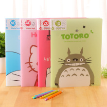 cartoon office pages folder A4 multilayer paper bags Waterproof Bags A4 Paper Folder Document Folding Design