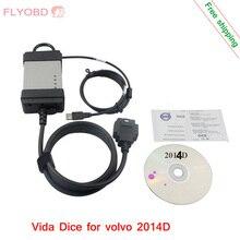2016 Последняя Версия 2014D Vida Dice Для VOLVo Профессиональный Диагностический Сканер Vida dice полный chipMulti-язык Гарантия Качества