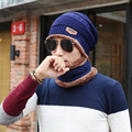 2017 NEW Brand Beanies Knit Men's Winter Hat Caps Skullies Bonnet Winter Hats For Men Beanie Warm Baggy Knitted Hat and Scarf