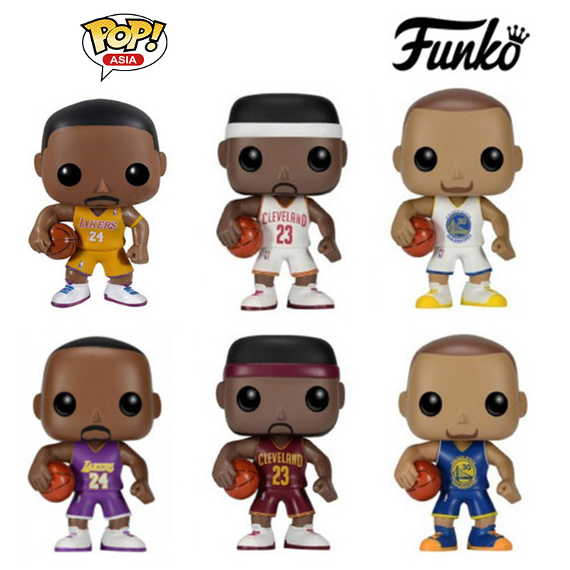 Funko POP 6 Types 10cm Kobe Bryant NBA Basketball Super Star Player Curry Action Figure COLLECTION VERSIO With Original Box