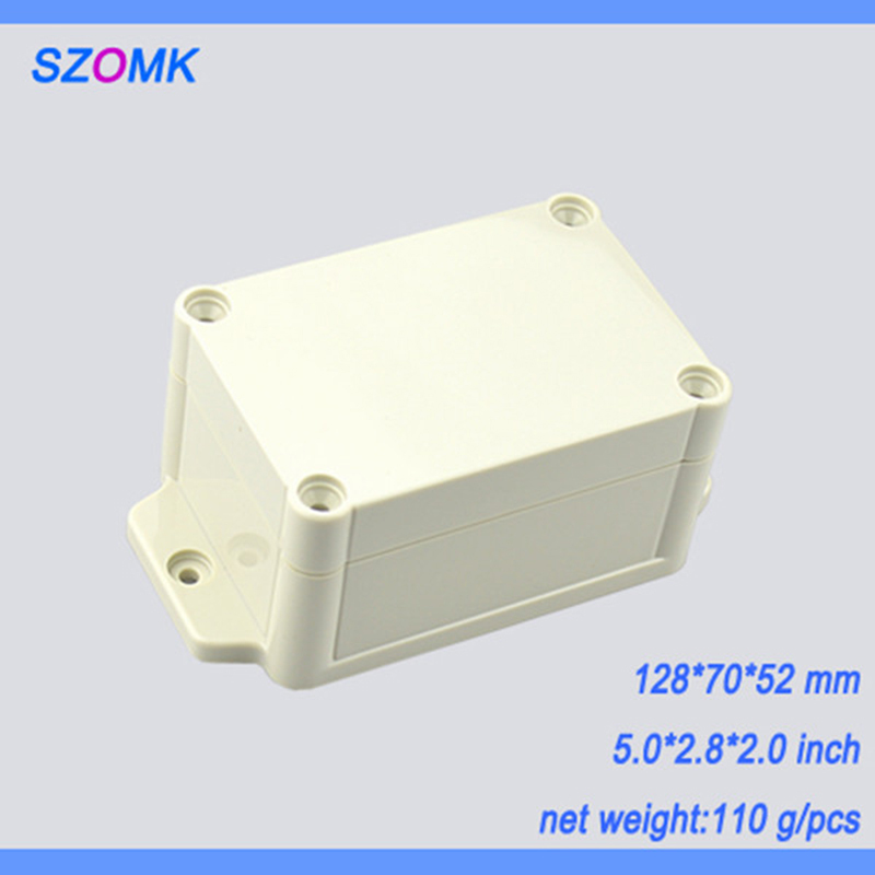 1 piece  IP 68  abs plastic electronics device box  128*70*52MM  waterproof enclosure junction box for project and electronics 2 pcs lot free shipping wall mounting plastic abs enclosure for pcb electronics device 110 70 38mm