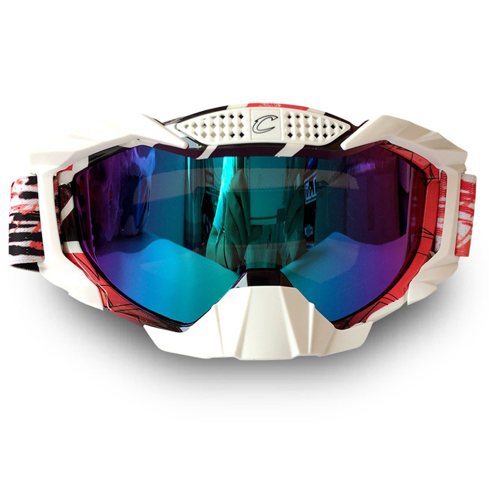 Motorbike Goggles For Outdoors Mountaineering Motocross Mountain bike With Glasses Cycle Gear Motorcycle Rider Equipped Colorful