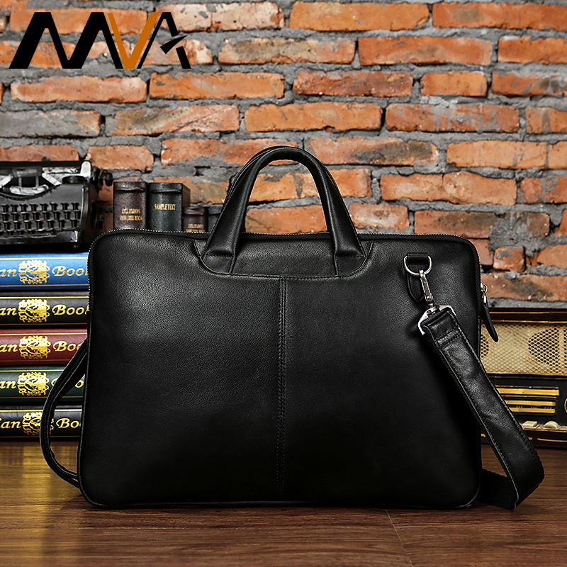 MVA Laptop Bag Genuine Leather Men Bag Male Messenger Crossbody Bags for Men Shoulder Bags Leather Business Briefcases Handbags augus 100% genuine leather laptop bag fashional and classic crossbody bags leather for men large capacity leather bag 7185a