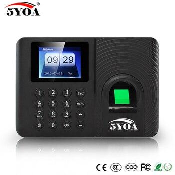 A10 biométrico de huellas dactilares tiempo asistencia sistema reloj de empleado de reconocimiento de la máquina electrónica