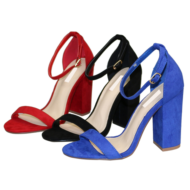 658c492182b Hot Women T-strapy Red color Sexy Women thick high heel sandals Big size  Classic 10CM peep toe women party shoes Free shipping