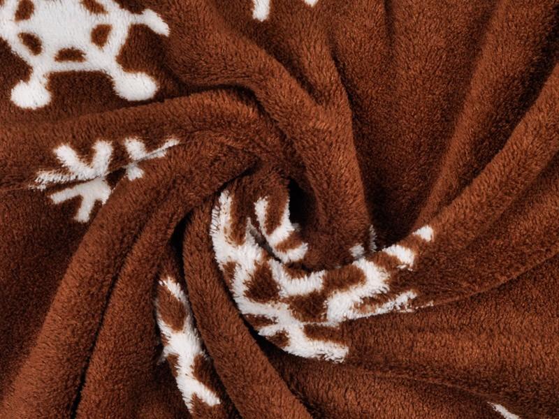 Adult Soft Coral Fleece Warm Winter Bathrobe Printed Snow Brown Plus Size Couple Dressing Gown Sleepwear Robe For Men Women