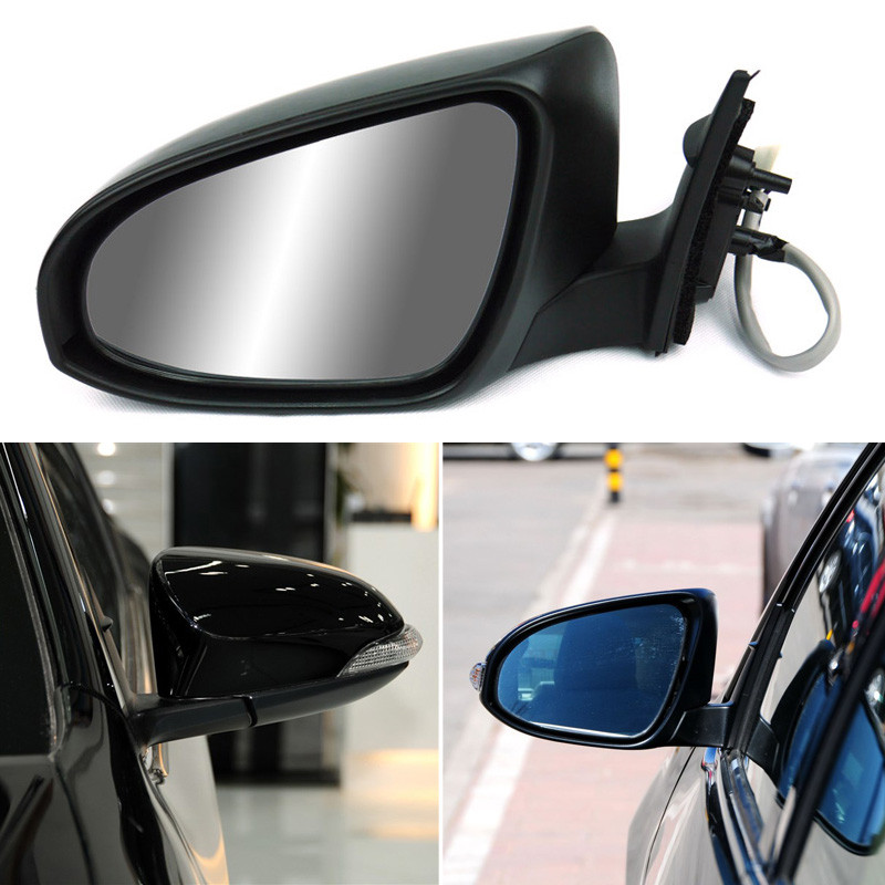 цена на Ipoboo Texture Black Automatic Folding Power Heated Turn Signal Original Replacement Side View Mirror For Toyota Camry 2012 2013
