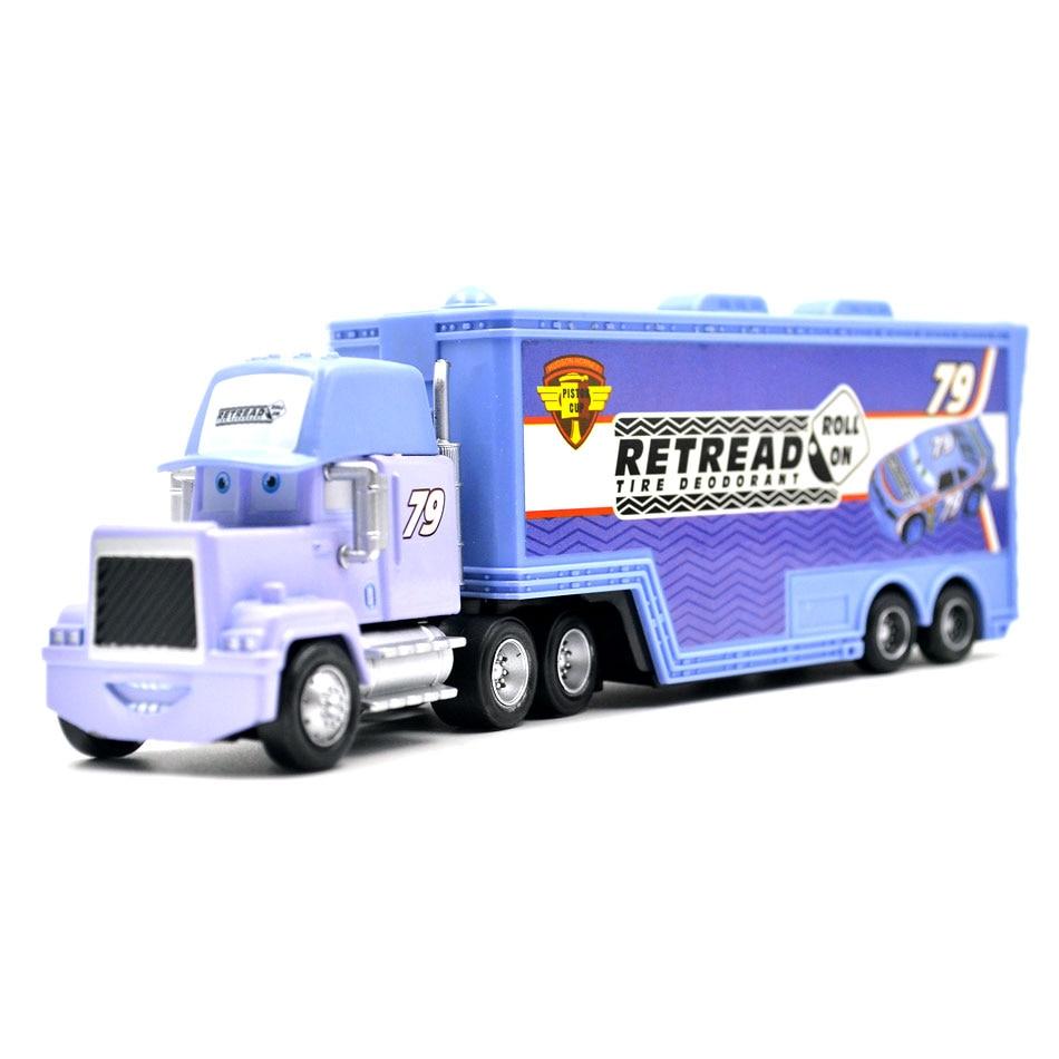 Disney Pixar Cars 3 9 Styles Mack Truck McQueen Uncle 1:55 Diecast - Bilar och fordon - Foto 2