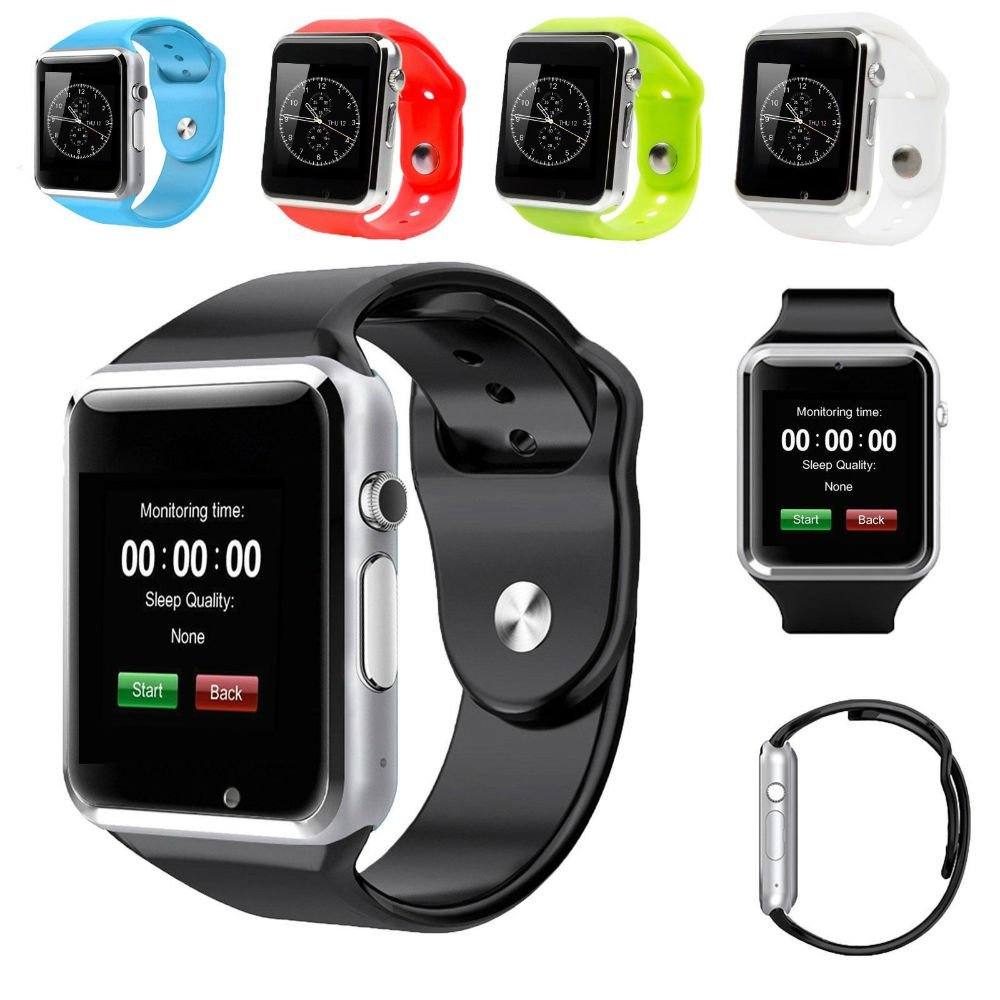 2017 New Arrival A1 Smart Watch Clock Sync Notifier Support SIM TF Card Connectivity Apple iphone