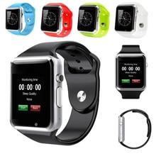 2017 Nueva Llegada A1 Reloj Inteligente Reloj de Sincronización Notificador Apoyo TF Tarjeta SIM Conectividad Apple iphone Teléfono Android Smartwatch