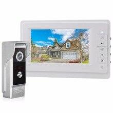 DIYSECUR 700 de la Cámara del IR 7 pulgadas TFT Pantalla a Color LCD de Video Teléfono de Puerta de Intercomunicación Timbre de INFRARROJOS de Visión Nocturna