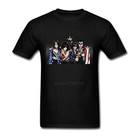 KISS HEAVY METAL ROCK BAND T Shirt Destroyer Rock Roll Over Crazy SOLO ALBUMS Tee Euro